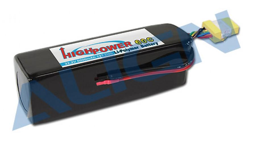 Align T-REX 6000mAh 60C 6S 22.2v Li-Po Battery