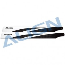 380 Carbon Fiber Blades - Black