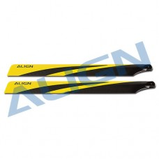 600N Carbon Fiber Blades - Yellow