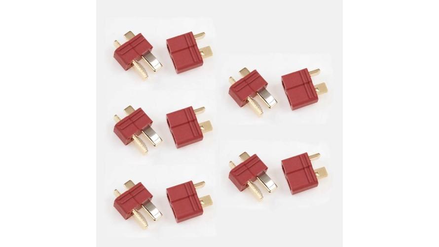 Amass T Plug Connectors Deans Compatible 5 Pair 002-0101