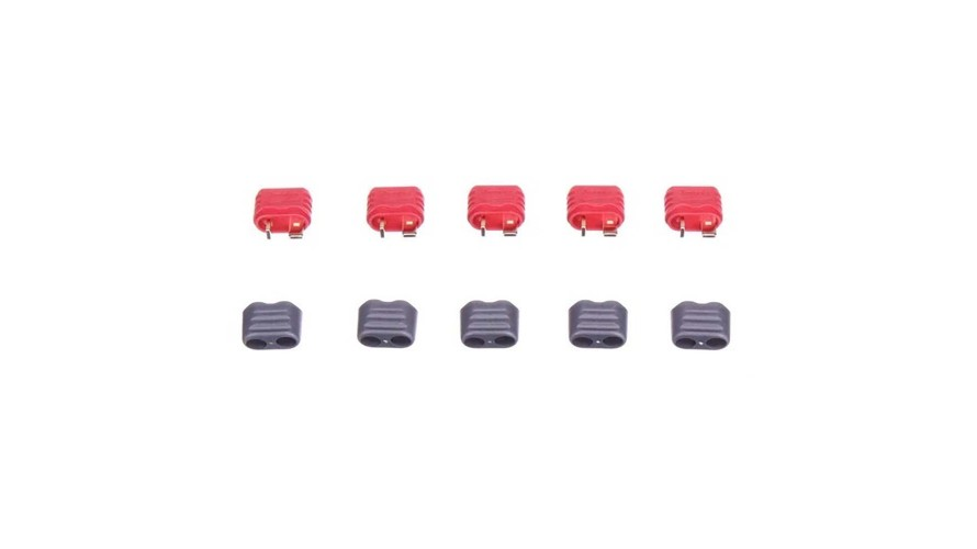 Amass T Plug Female with Insulating Caps Battery Side 5ct EPB-1028