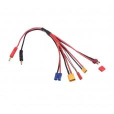 Universal Charge 5 Outlet Cable XT30 XT60 TPLUG EC3 JST