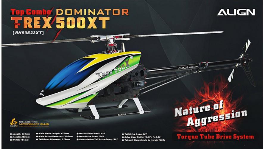 Align T-REX 500XT Dominator Top Combo Torque Tube RH50E23X
