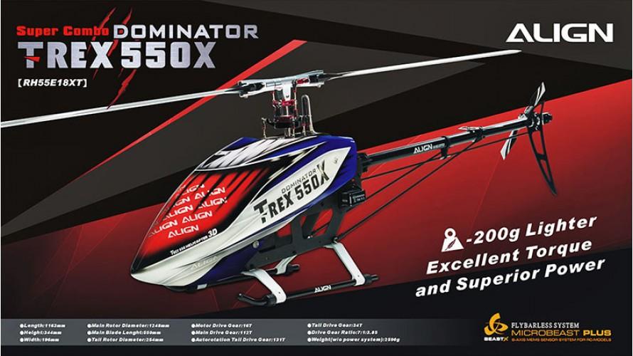 Align T-REX 550X Dominator Super Combo RH55E18X