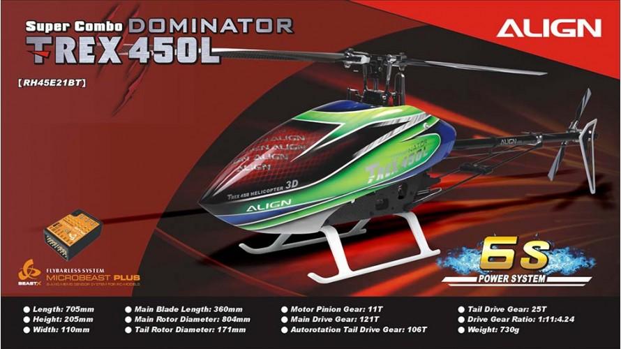 Align T-REX 450L Dominator Super Combo 6S RH45E21B