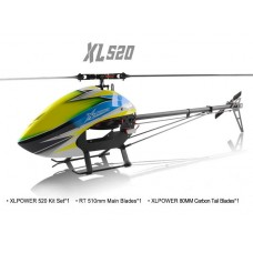 XLPower 520 Kit with Main Blades, and Tail Blades