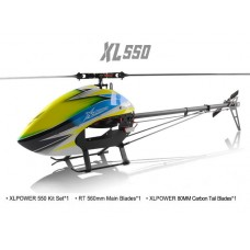 XLPower 550 Kit with Main Blades, Tail Blades