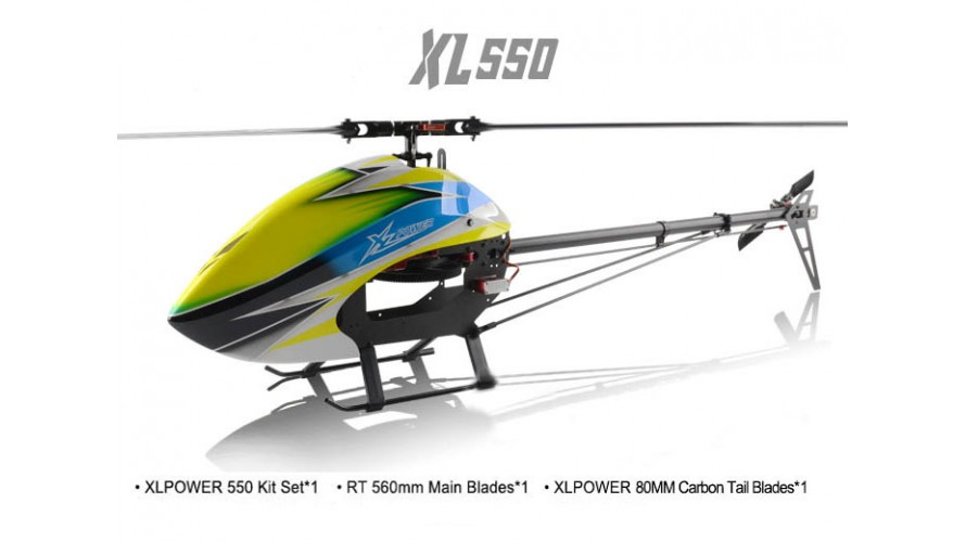 XLPower 550 Kit with Main Blades, Tail Blades XL55K02