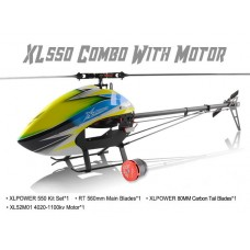 XLPower 550 Kit with Main Blades, Tail Blades, 4020 Motor