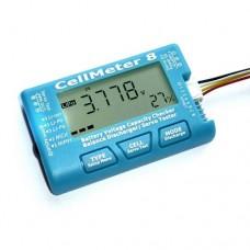 AOK CellMeter 8 Battery Voltage Capacity Checker & Servo Tester & Balancer