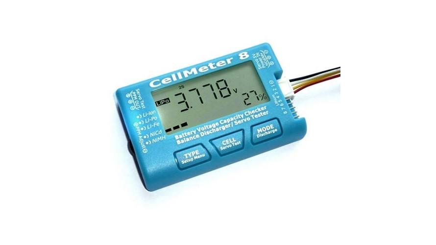 AOK CellMeter 8 Battery Voltage Checker - Servo Tester - Balancer AOK-1001